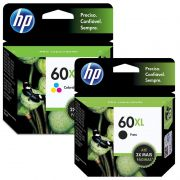 Kit Cartucho HP 60 XL Colorido Original + Cartucho HP 60 XL Preto Original