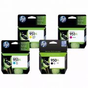 Kit Cartucho HP 950 XL Preto Original + 951 XL Coloridos de Alto Rendimento