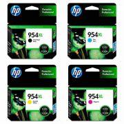 Kit Cartuchos de Tinta HP 954 XL Preto + 954 XL Coloridos de Alto Rendimento