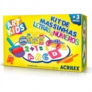 Kit de Massinhas Acrilex Art Kids Letras e Números 40046 29631