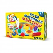 Kit de Massinhas Acrilex Art Kids Mini Chef 40008 29627