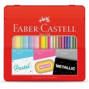 Kit Lápis de Cor Pastel + Metalico + Neon Faber-Castell Kit/Cores 29840