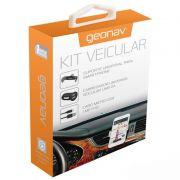 Kit Veicular Geonav Para Celulares Android Preto Mic31 Geonav 24220