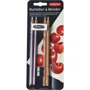Lápis Blender e Burnisher Derwent Kit 2 + 2 + Apontador + Borracha 275361 29220
