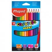 Lápis de Cor 12 Cores Jumbo Max Triangular 834010Zv Maped 21090