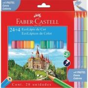Lápis De Cor 24 Cores + 4 Tons Pastel Sextavado 120124+4P Faber-Castell 32318