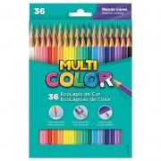 Lápis de Cor 36 Cores Multicolor Super 11.3600N 03206