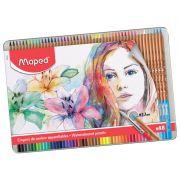 Lápis De Cor Aquarelável 48 Cores Estojo Metálico Maped 832448 29149
