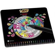 Lápis de Cor BIC 24 Cores Conte Estojo Premium Cores Vivas 930068 26902