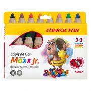 Lápis de Cor Compactor 8 Cores Jumbo Maxx Jr 2145000 26811
