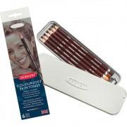 Lápis de Cor Derwent Colorsoft Skin 6 Tons de Pele 315222 29243