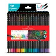 Lápis de Cor Faber-Castell 100 Cores Supersoft 1207100Soft 30210