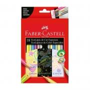 Lápis de Cor Faber-Castell 18 Cores Efeitos Especiais Triangular 120918 23993