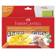 Lápis de Cor Faber-Castell 24 Cores Jumbo Triangular Estampado 123024AP 02642