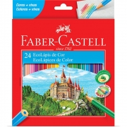 Lápis de Cor Faber-Castell 24 Cores Sextavado 120124G 03205