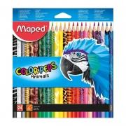 Lápis de Cor Maped 24 Cores Triangular Peps Animais 832224 26792