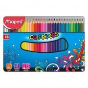 Lápis de Cor Maped 48 Cores Com Estojo de Metal 832058 25877