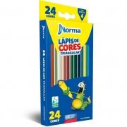 Lápis de Cor Norma 24 Cores Triangular 932971 15426