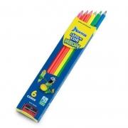 Lápis de Cor Norma Com 6 Cores Neon 10310006 25093