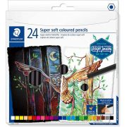 Lápis de Cor Staedtler 24 Cores Super Soft Design Journey 149C C24 29177