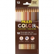 Lápis De Cor Tons De Pele Multicolor Super 12 Cores 11.1200Ntp Faber-Castell 32317