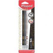 Lápis Grafite Maped HB 2 Decor Com Borracha 3 Un 851718 26679