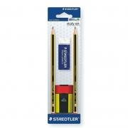 Lápis Grafite Staedtler Noris HB 2 Un. + Borracha + Apontador 120 511Bkd10 28835