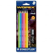 Lápis Grafite Staedtler Wopex Neon N2 6 Un. + Borracha + Apontador 180Fsbk6Lc 22539