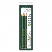 Lápis Preto Técnico HB / 2B / 4B / 6B SMC9000MIX Faber-Castell 4 Un. 01829
