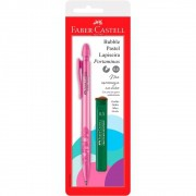 Lapiseira 0.5mm Faber-Castell Bubble Pastel Rosa SM/05Bbrs 29380