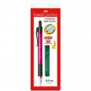 Lapiseira 0.5mm Grip Matic Super Metal Rosa + 12 Grafites SM05GMP Faber-Castell 01864