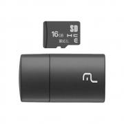 Leitor de Cartão + Smartcard Multilaser 16Gb USB 2.0 MC162 29926