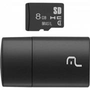Leitor de Cartão + Smartcard Multilaser 8Gb USB 2.0 MC161 29925