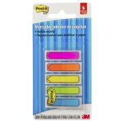 Marcador de Página Adesivo Post-it® Flags Setas 5 Cores Neon 11,9 mm x 43,2 mm - 100 folhas 24020