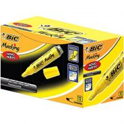 Marcador de Texto BIC Marking Amarelo Com 12 Un 904396 21077