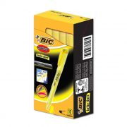 Marcador de Texto Brite Liner Amarelo Com 12 Un. BIC 03359