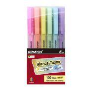 Marcador de Texto Newpen Office Pastel 6 Cores 14.059 28498
