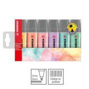 Marcador de Texto Stabilo Boss Pastel Com 6 Cores 53.5800 25806