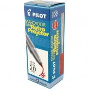 Marcador Retro Projetor 2.0mm Vermelho Caixa Com 12 Un.  Pilot 14968