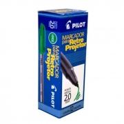 Marcador Retro Projetor 2.0mm Verde Caixa Com 12 Un. Pilot 14967