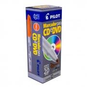 Marcador Permanente Vermelho 2.0mm Para CD / Plástico / Metal / Vidro Caixa Com 12 Un. Pilot 14971