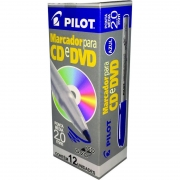 Marcador Permanente Azul 2.0mm Para CD / Plástico / Metal / Vidro Caixa Com 12 Un. 14969