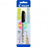 Marcador Permanente Preto 1.0mm Para CD / Plástico / Metal / Vidro Pilot 12400