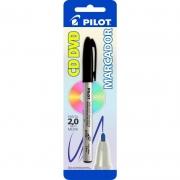 Marcador Permanente Preto 2.0mm Para CD / Plástico / Metal / Vidro Pilot 02866