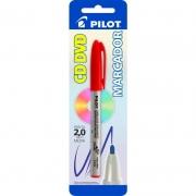 Marcador Permanente Vermelha 2.0mm Para CD / Plástico / Metal / Vidro Pilot 02868