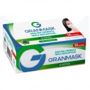 Máscara Cirúrgica Tripla Descartável Branca 50 Unidades Granmask 30455