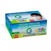 Máscara Kids Cirúrgica Tripla Descartável Branca 30 Unidades Granmask 30458
