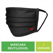 Máscara Reutilizável 3M Nexcare  Preta 11253430 30182