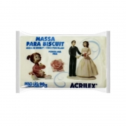 Massa de Biscuit Ou Porcelana Fria Acrilex 90G Branca 26835