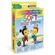 Massa de Modelar Acrilex Base Amido Soft Baby 6 Rolos Cores 07370 29625